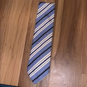 BANANA REPUBLIC Light blue and white stripped tie